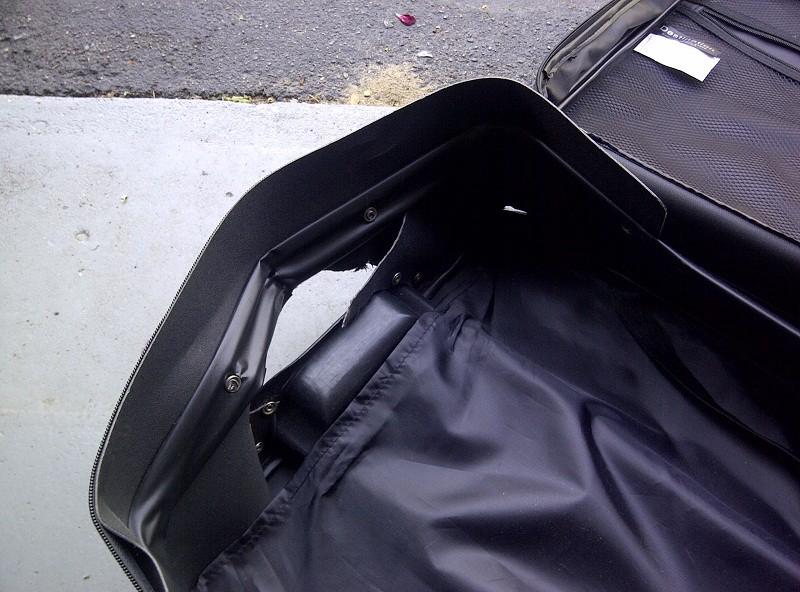 damaged luggage